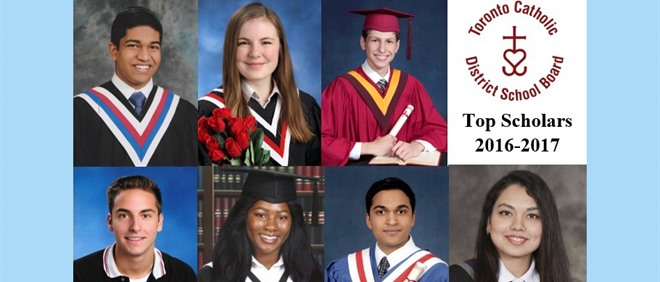 Congratulations to TCDSB's 2017 Top Scholars